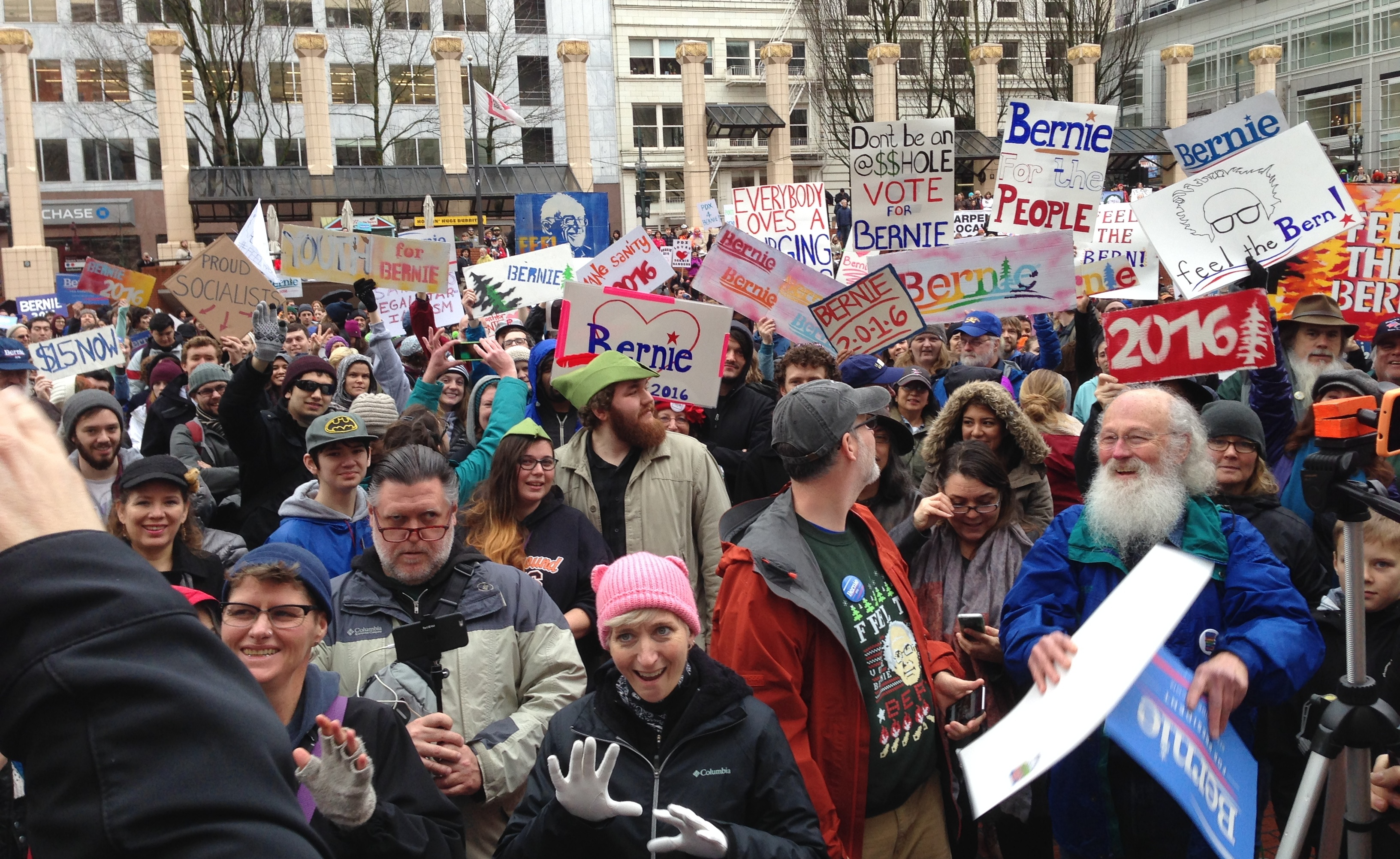 March for Bernie Rally, January 23, 2016