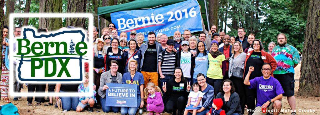 Bernie PDX Banner